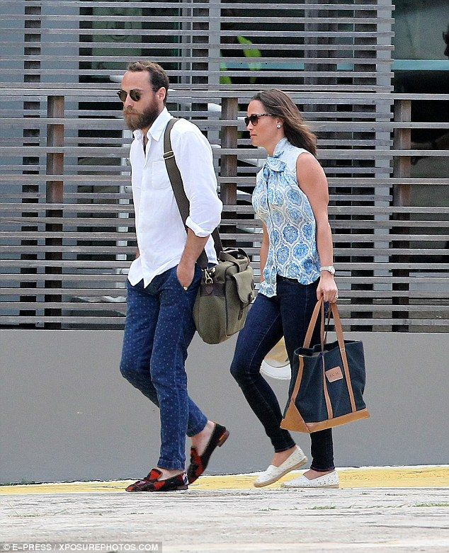 1/7/16. Homeward bound: It looks like it's back to reality for Pippa and James Middleton as the two were seen hopping on a private jet out of St Barts on Thursday