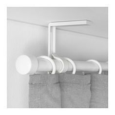 IKEA - BETYDLIG, Wall/ceiling bracket, white,  , , Curtain rod holder position can be adjusted, allowing curtains to be hung either close to the window or farther out.Two anti-slip liners - the thick liner fits RÄCKA curtain rod and the thin liner HUGAD curtain rod.You can create a double- or triple-layer curtain solution by adding extra BETYDLIG curtain rod holders. The curtain rod holder is sold separately.
