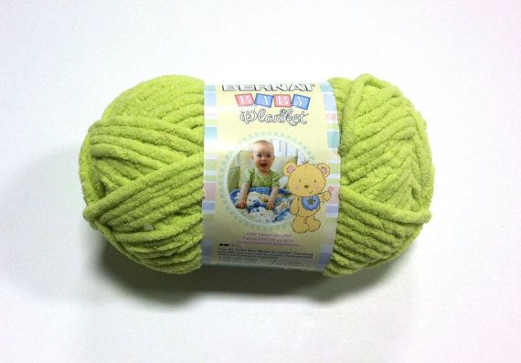 Bernat Baby Blanket Yarn In Lemon Lime New Color 3223