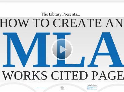 mla format essay citation example