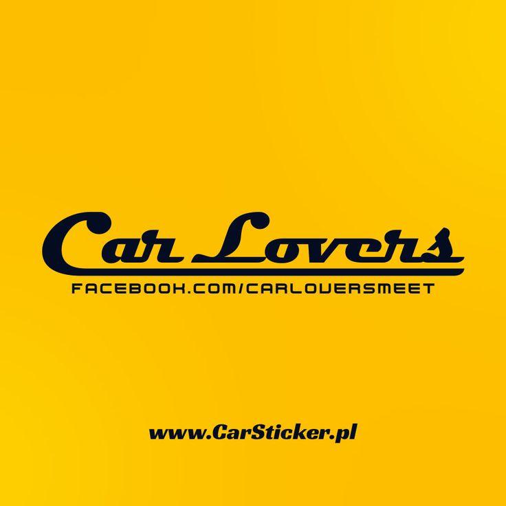 Rozpoczęliśmy współpracę z Car Lovers, a o to ich nowa naklejka ;)