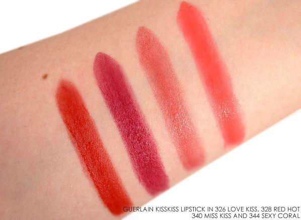 Guerlain KissKiss Lipstick в 326 любви поцелуй 328 Red Hot 340 мисс 344 Kiss Sexy Coral