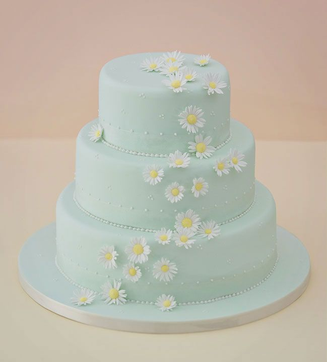 Falling Daisy's Wedding Cake <3