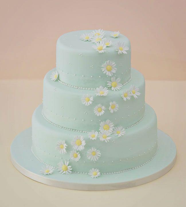 Falling Daisy's Wedding Cake