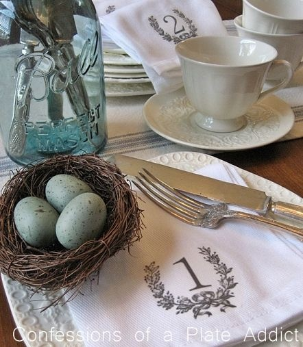 French Farmhouse Numbered Napkins
