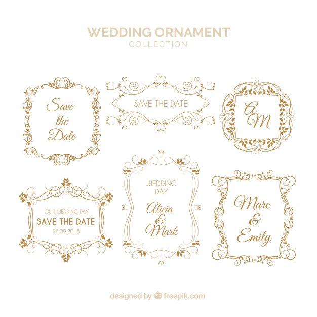 Download Set Of Wedding Ornaments For Free Wedding Ornament Wedding Vector Free