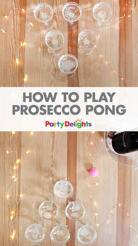 Looking for a fun hen party game? How about PROSECCO PONG?! This new take on beer pong is ideal for hen parties or could even be played as a New Year's Eve party game. Pick up the prosecco pong game kit at partydelights.co.uk.
