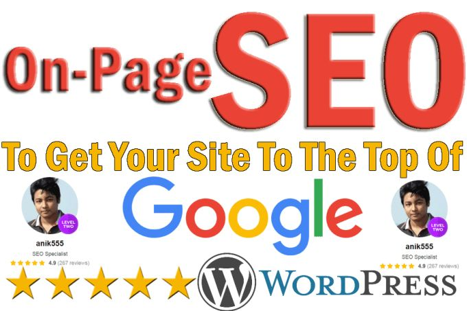 fix, optimize on page SEO of your wordpress website for top google ranking