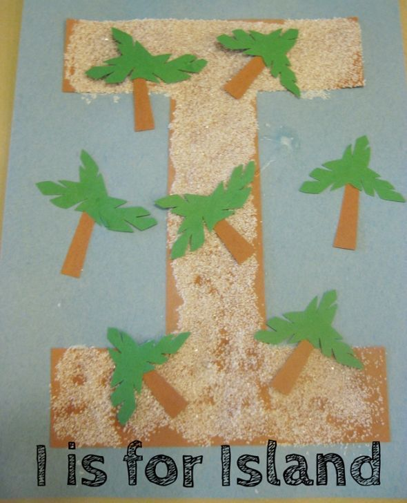 alphabet activites for kids i is for island