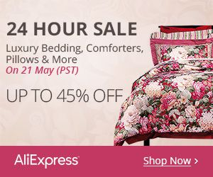 24-Hour Sale On 21 May (PST) Luxury Bedding, Comforters, Pillows & More Up to 45% off