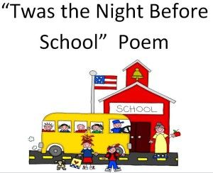 """Want a good laugh? Read this back to school poem """"Twas the Night Before School"""""""