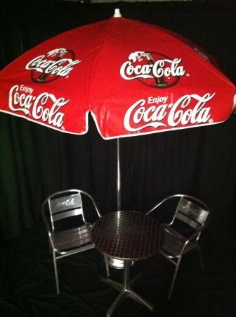 coke patio umbrella coca cola pinterest outside furniture just love and furniture. Black Bedroom Furniture Sets. Home Design Ideas