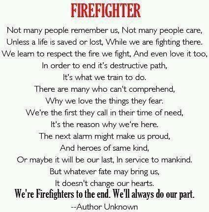 Firefighter quote.