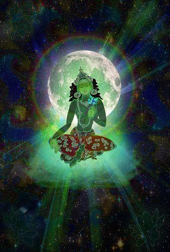 Green Tara - paz - fé - espiritualidade - esperança - amor - energia - oração - meditação - reflexão -  conhecimento