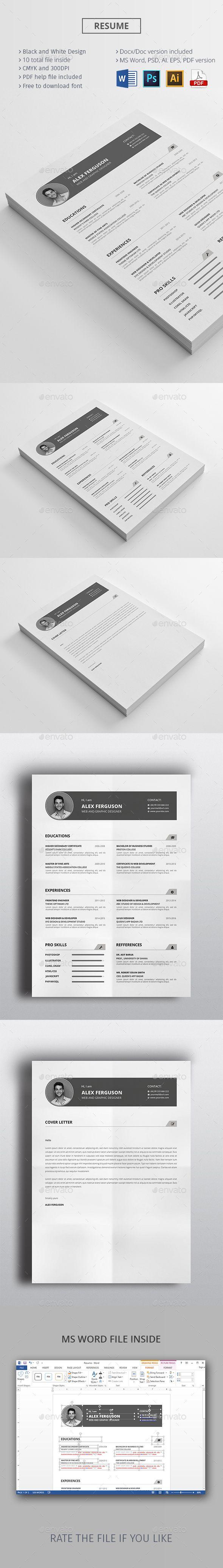 best ideas about cv pdf format lettre de resume cv template ms word ai eps psd pdf here