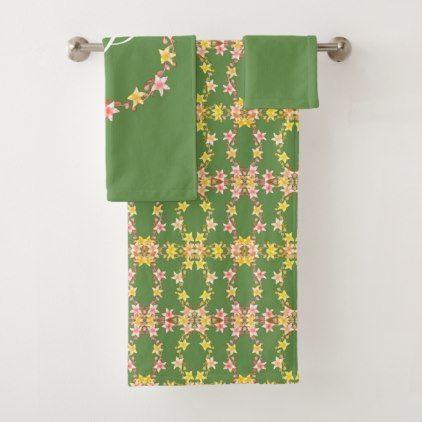 Floral Shabby Chic Bath Towel Set - chic design idea diy elegant beautiful stylish modern exclusive trendy