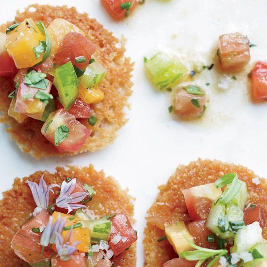 Parmesan Tuiles with Heirloom Tomato Salad   Food & Wine