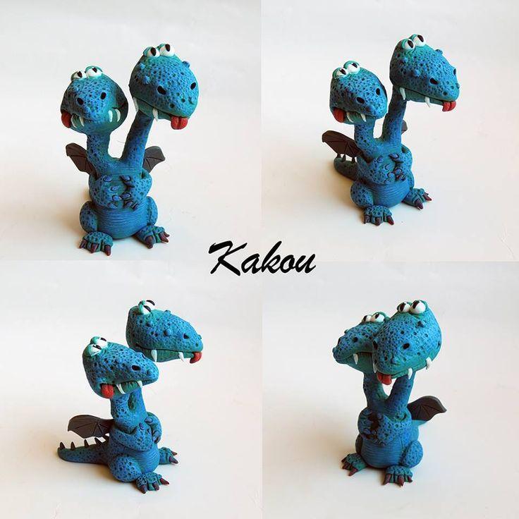 Dagmar Kakáčová - figurka draka z polymerové hmoty podle workshopu od Alessio Busanca