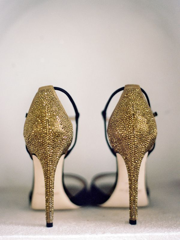 Sparkly gold heels are always a good idea! Photo by Jillian Mitchell
