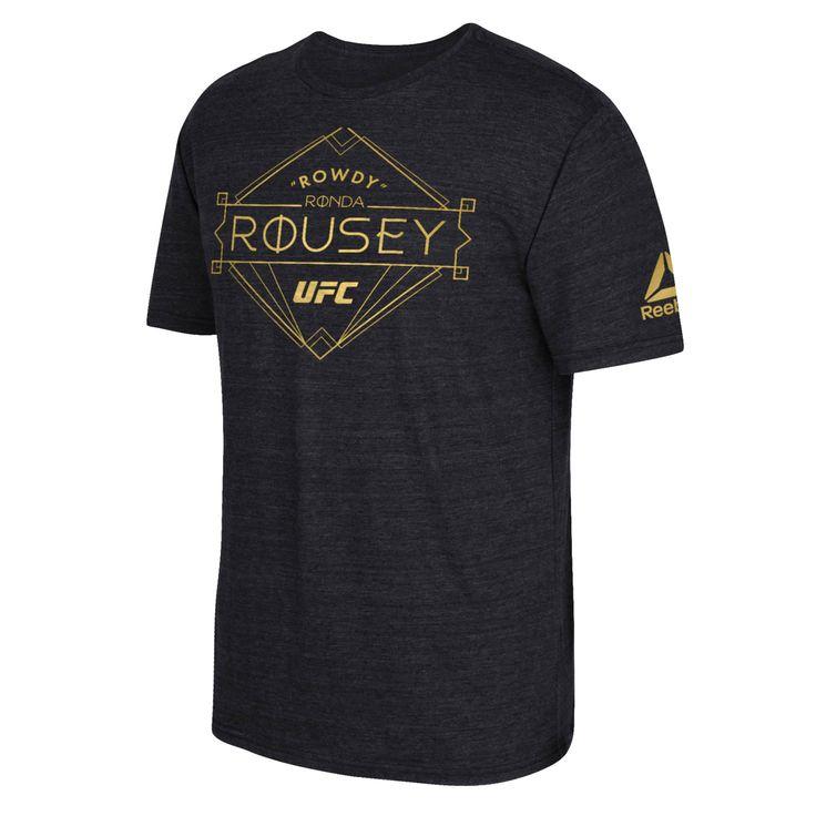Ronda Rousey Reebok Diamond Marquee Tri-Blend T-Shirt - Black - $31.99