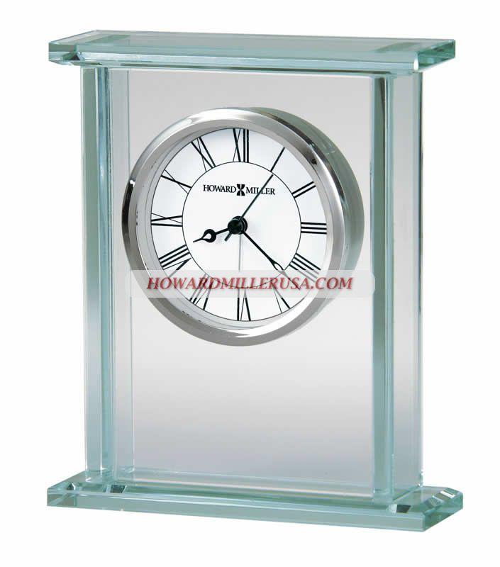 Glass Carriage Silver Bazel Alarm Clock   645643 Howard Miller