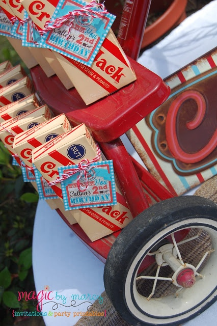 Retro red and aqua birthday party great ideas for a radio flyer theme