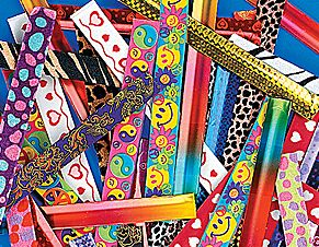 Slap bracelets were the sillybands of the 90s.  They came in many fun colors and textiles.  Fun for girls of all ages, trendy and adds a pop of color to any look.