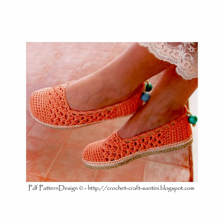 Crochet & Craft: CORAL LACE CROCHET SLIPPERS - UPDATED AND RE-WRITTEN