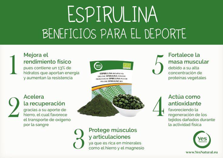 Beneficios del alga #espirulina para el deporte