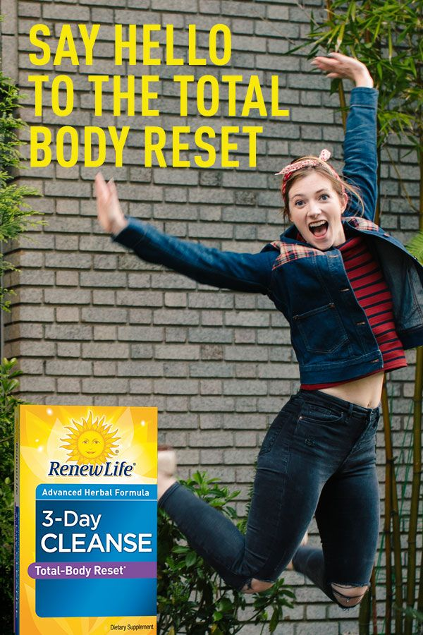 Wave goodbye to unwanted bloat with Renew Life® 3-Day Cleanse. Quick and easy-to-use, it's an advanced herbal cleanse and detox formula that works with your body's natural metabolism to help eliminate waste and toxins, and relieve occasional bloating and constipation.