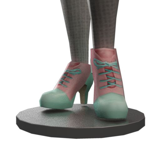 Block Pastel Dolls Boots