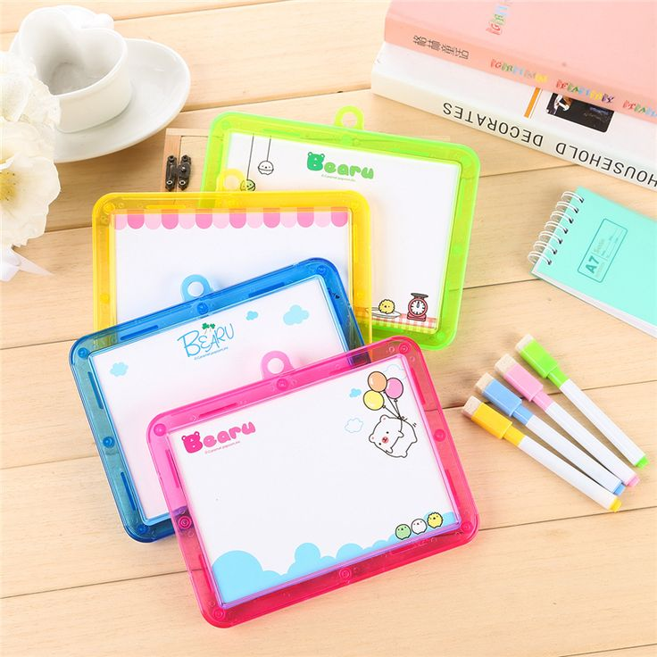 DIY Mini Cute Kawaii Drawing Board Lovely Colored Painting Board For Kids Stationery Gift School Supplies Free Shipping 3104