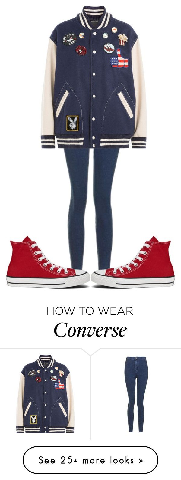 """""""Untitled #562"""" by sydthekyd01 on Polyvore featuring Topshop, Marc Jacobs and Converse"""