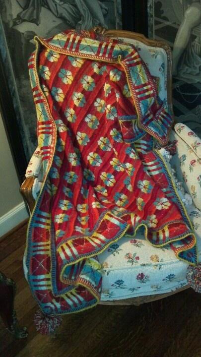 My dear friend knitted this fantastic Christel Seyfarth shawl. Amazing!