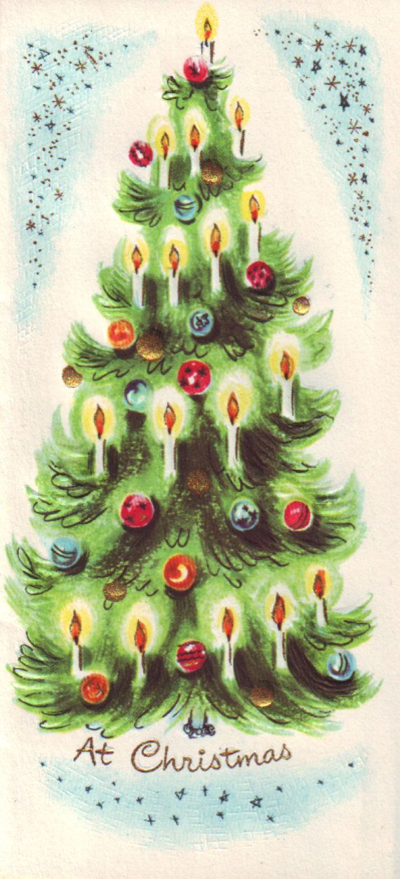 Best 300 christmas vintage trees images on pinterest christmas vintage 50s slim n prim christmas card unused featuring lovely illustration of tree free shipping to canada and usa m4hsunfo