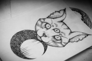 Tattoo art | cat Satan by Askaraya