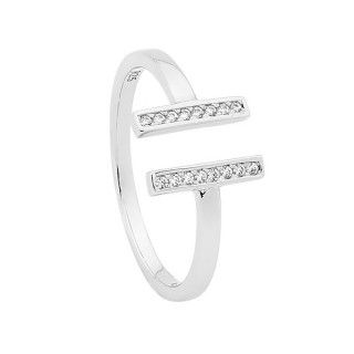 Georgini Liberty Double Sterling Silver Ring image-a