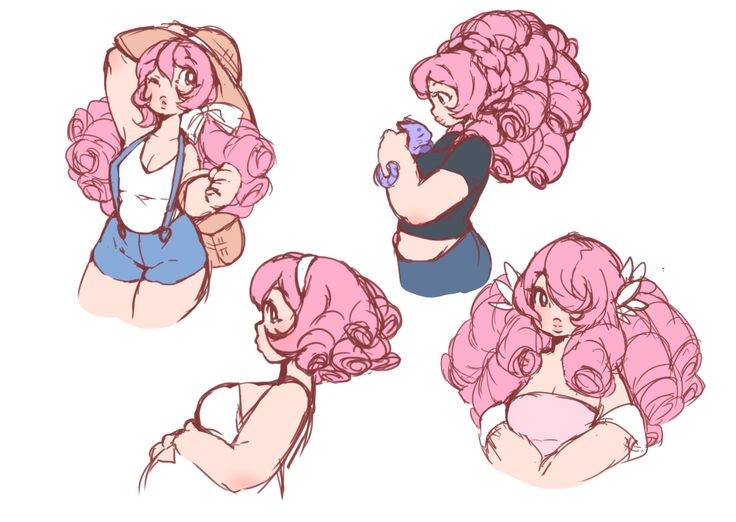 Rose with her hair done. I really like the one of her holding Amethyst and the one that's cut short.