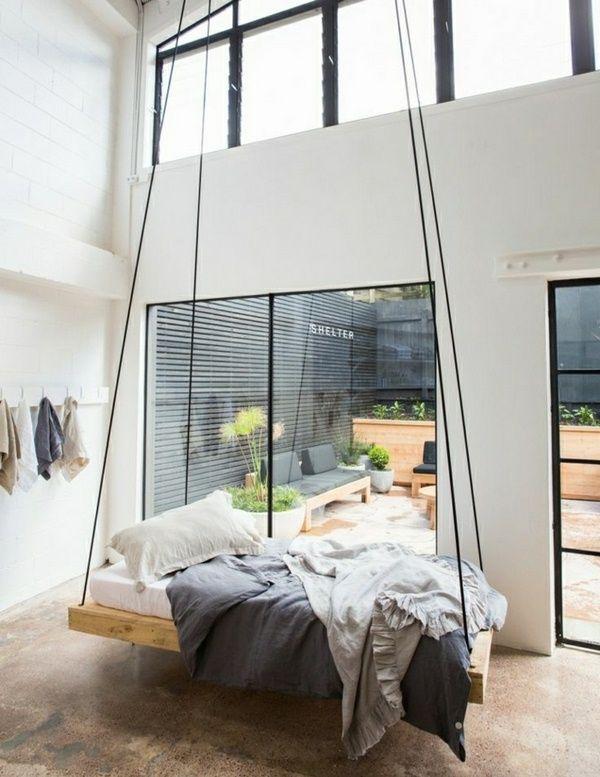 Bedroom Scandinavian minimalist swingbed