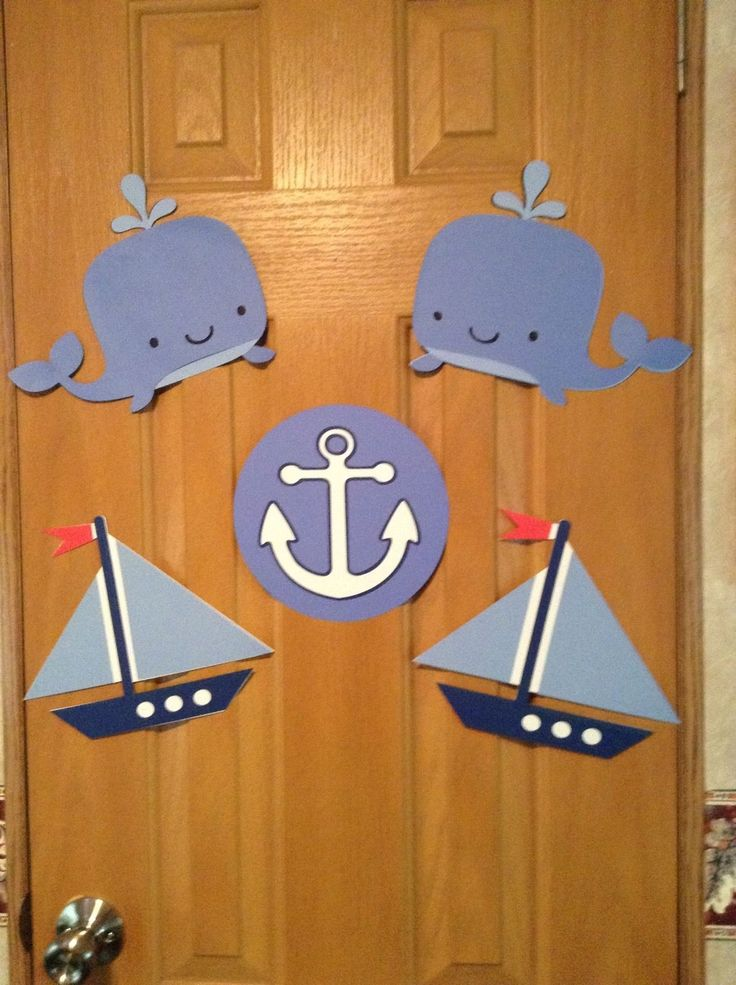 Nautical Whale Sailboat Anchor Die Cut Cutouts Banner Birthday Baby Party Shower | eBay