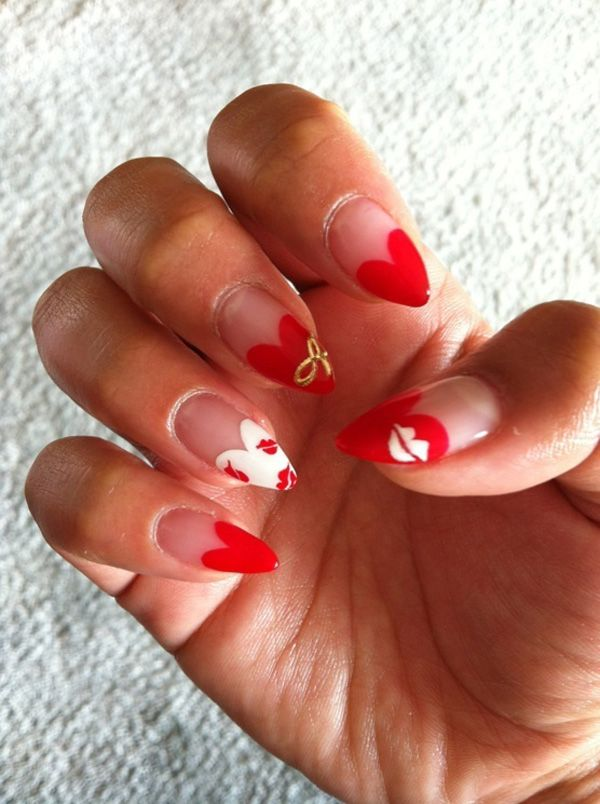 Red nail art - 55 Hottest Red Nail Art Ideas   <3