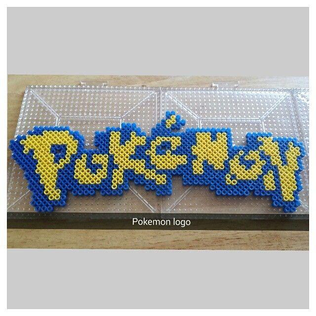 Pokemon logo hama beads by the_nerdy_girl_crafter