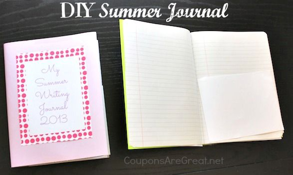 Summer journals get kids to use brains. And mom gets a few minute break during journal time!
