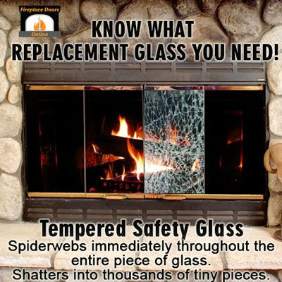 Tempered Safety Glass for Fireplace Doors - When it breaks it spiderwebs  immediately throughout the entire - 10+ Images About Fireplace Safety On Pinterest Ceramics