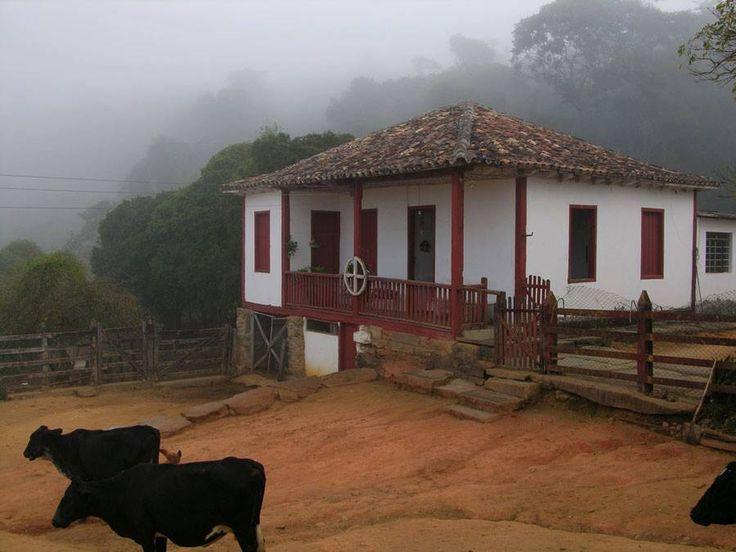 Muita neblina na manhã em fazenda de Minas Gerais, Brasil.  Fotografia: http://www.portalanaroca.com.br