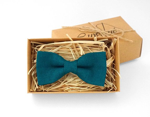 Teal bow tie Mens Teal Bow Tie Teal blue bowtie teal mens
