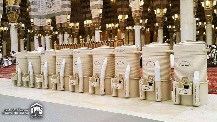The zam zam drums lined up at masjid al nabavi #Medina