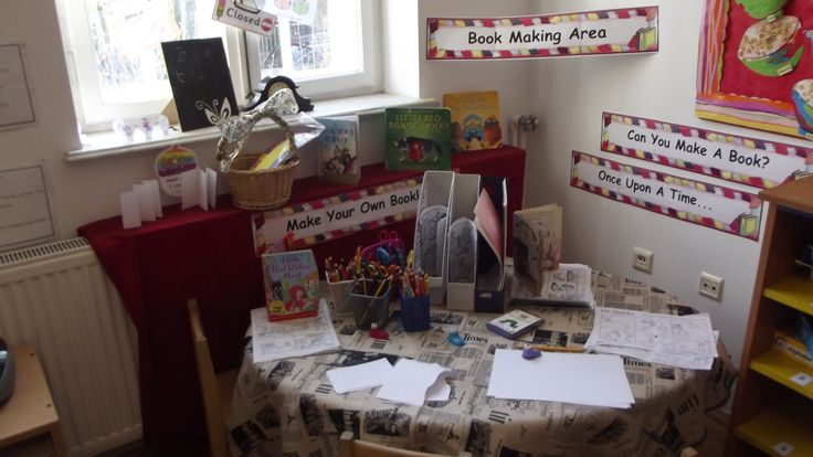 Book Making Area School Years @ Acorns Nursery Bucharest