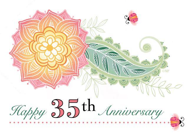 35th Wedding Anniversary Flower Paisley Lady Bugs Thirty Fifth Card Ad Affiliate 45th Wedding Anniversary 70th Wedding Anniversary 55th Wedding Anniversary