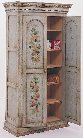 Image detail for -Hand Painted Oak Linen Press